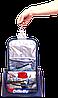 Дорожный несессер для косметики с крючком Premium (серый), фото 3