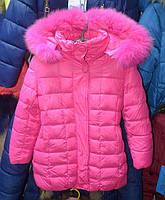 Зимова куртка для дівчат  4 років OHCCMITH рожева