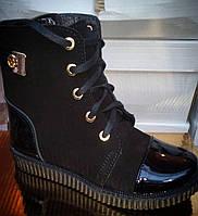 Ботинки зимние кожаные для девочек