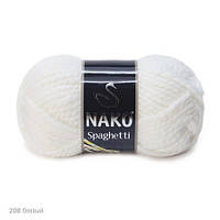 Пряжа Nako Spaghetti Белый