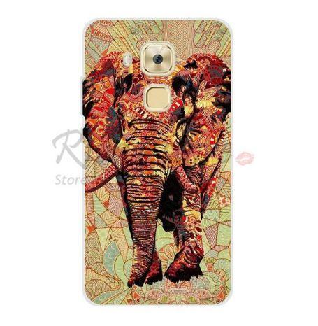 Бампер силіконовий чохол для Huawei Nova Plus з картинкою Червоний слон