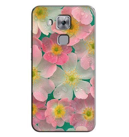 Бампер силіконовий чохол для Huawei Nova Plus з картинкою Квіти з росою