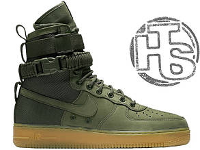 Мужские кроссовки Nike Special Field Air Force 1 Olive Gum 859202-339