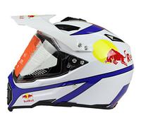 Белый кроссовый эндуро мото шлем Red Bull Dot