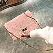 Сумочка розовый мех на цепочке 207-29, фото 4