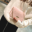 Сумочка розовый мех на цепочке 207-29, фото 3