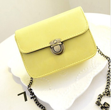 f8e03f883d54 Женская маленькая желтая сумочка на цепочке из экокожи опт - ModaShop в  Киеве