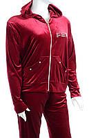 Велюровый женский спортивный костюм синтетика K113