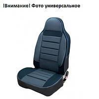 """Чехлы сидений """"Пилот"""" ЗАЗ  Славута 1103/ЗАЗ 1102 Таврия Кожзаменитель черная  +  ткань Светло-серая"""