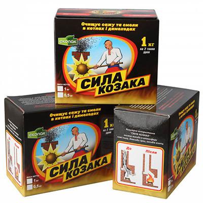 Сила козака 0,5 кг химическая чистка котлов,каминов,дымоходов