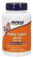 NOW - Alpha Lipoic Acid 100mg (120 caps) / Альфа-липоевая кислота с витаминами А и С