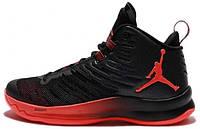 Мужские баскетбольные кроссовки Nike Air Jordan Super Fly 5 Black/Infrared 44