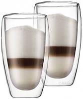 Стеклянные стаканы с двойными стенками  Bodum Pavina 450 мл (ОРИГИНАЛ) 2 шт.
