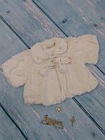 Меховое болеро на девочку 1-3 года, молочный