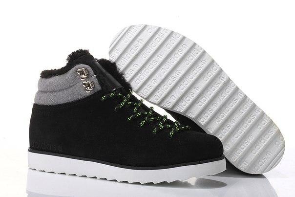 Мужские зимние кроссовки Adidas NEO Rugged Black (Реплика) - Urban Style в  Киеве c2dd5d71f0a