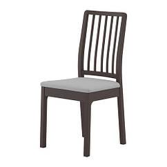 Кресло, темно-коричневый, Оррста светло-серый IKEA EKEDALEN 803.407.60