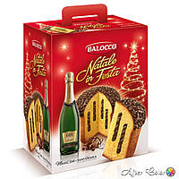 Праздничный набор Панеттон с шампанским NATALE IN FESTA PANETTONE, Италия