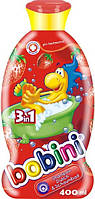 Детский шампунь-гель-пена для ванны BOBINI 400 мл клубника