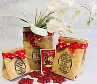 Подарочная упаковка из мешковины, 3 шт, Организация хранения, Днепр, фото 1