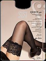 Женские Чулки с кружевом на силиконовой основе Queen 40den
