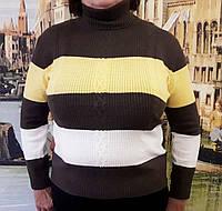 Женская кофта в полоску (цвет хаки) Турция, Женский свитер большого размера