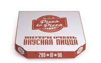 Упаковка для пиццы из трёхслойного гофрокартона с одноцветной флексопечатью. Профиль Е.