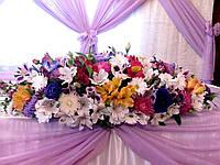 Экибана на стол, букет из цветов, композиция на свадьбу из цветов