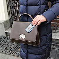 Женская повседневная сумочка жесткая коричневая