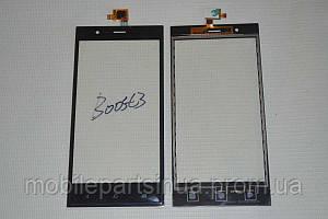 Оригинальный тачскрин / сенсор (сенсорное стекло) для Highscreen Boost 3 (черный цвет, чип Goodix) + СКОТЧ