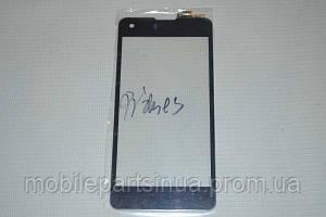 Оригинальный тачскрин / сенсор (сенсорное стекло) для Highscreen Omega Prime S (черный цвет) + СКОТЧ В ПОДАРОК