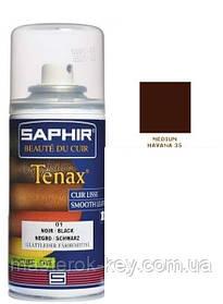 Аэрозольный краситель для гладкой кожи Saphir Tenax Spray 150 мл цвет средний табак (35)