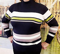 Женская кофта с люрексом (цвет черный) Турция, Женский свитер большого размера, фото 1