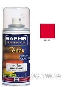 Аэрозольный краситель для гладкой кожи Saphir Tenax Spray 150 мл цвет красный (11)