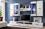 Белые комплекты мебели для гостиной