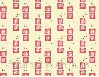 Бязь набивная диз: 3828 red
