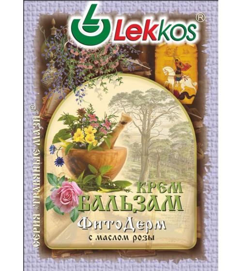 Крем-бальзам ЛЕККОС ФитоДерм при псориазе, экземе 10 гр.