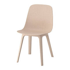 Кресло, белый, бежевый IKEA ODGER 603.599.96