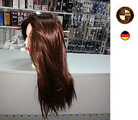 """Профессиональный манекен с искусственными волосами""""каштан"""""""