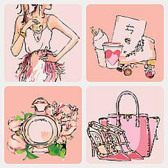 Рисование по номерам Чувство стиля Нежно-розовый (KHO5021) Идейка 40 х 40 см (без коробки)