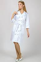 Медицинский женский халат Герань (белый)