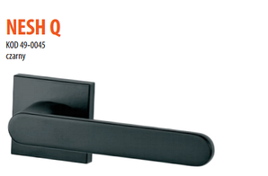 Дверная ручка VDS  Nesh Q черная матовая