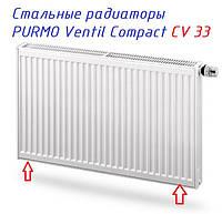 Стальные панельные радиаторы PURMO Compact CV 33 с нижним подключением.