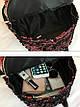 Рюкзак большой двусторонние пайетки красный 207-253, фото 4