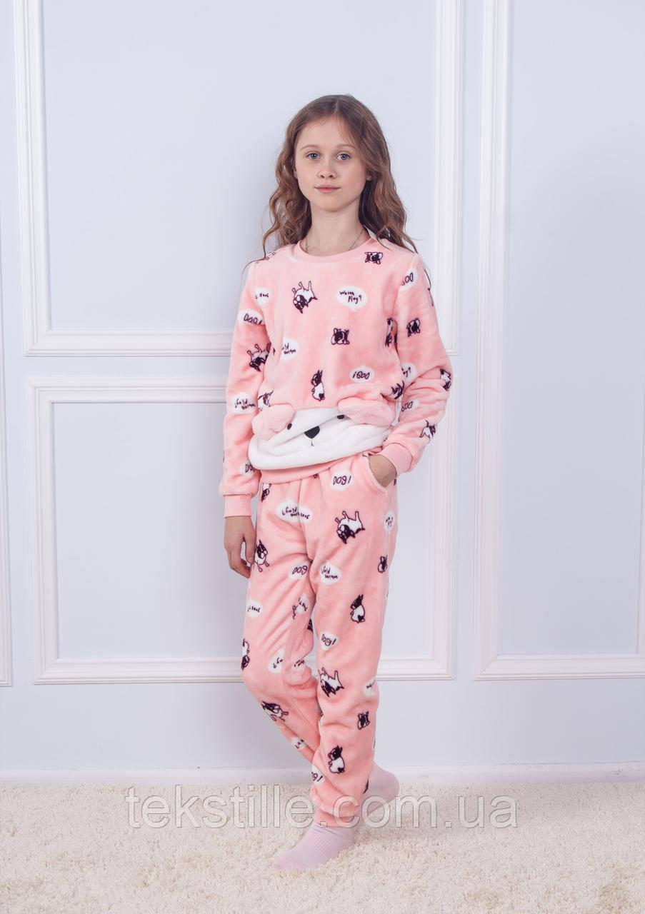Пижама детская махровая с ушками Дог