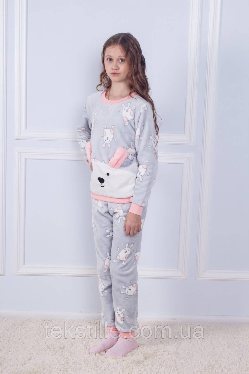 Пижама детская махровая Серый Зайчик Sofi Soft 12 лет
