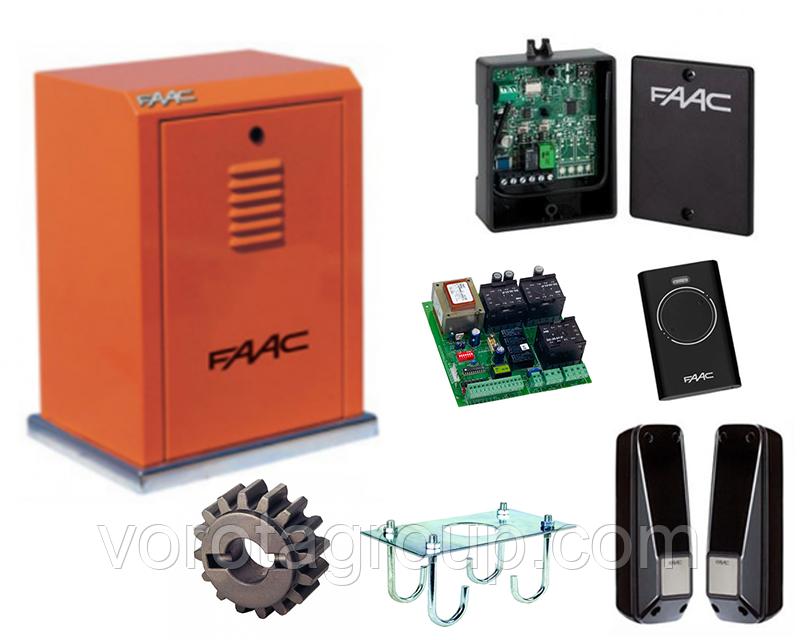 Автоматика FAAC 884 MC 3PH (комплект)  для откатных ворот массой до 3500кг