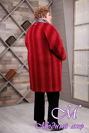Женское теплое зимнее пальто больших размеров (р. 64-78) арт. 1097 Тон 1, фото 2