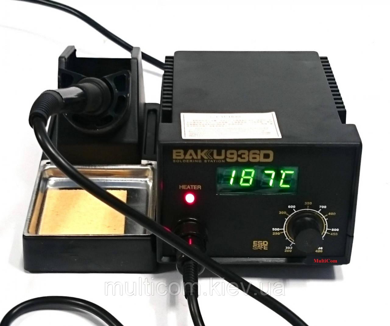 13-00-023. Паяльная станция BK-936D, с дисплеем, BAKU