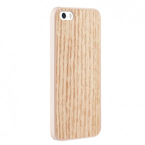 Чехол-накладка	OZAKI O!coat-0.3+Wood for iPhone 5/5S Red Oak (OC545RO) - A99.com.ua в Киеве