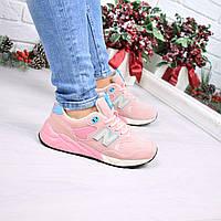 Кроссовки женские New Balance пудра замша 4029 , спортивная обувь